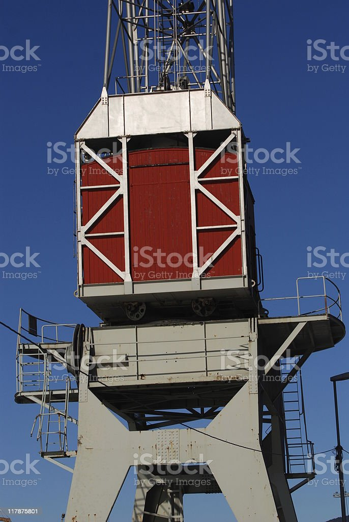 Harbour Crane stock photo