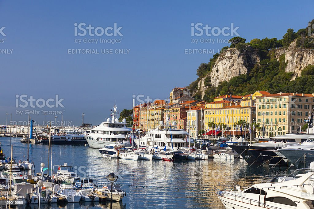 Harbour filled with boats, Nice, France royalty-free stock photo