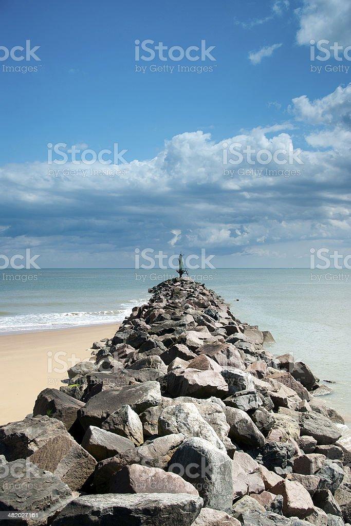 Harbour Groyne stock photo