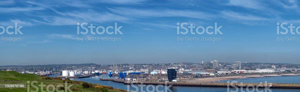 Harbour in Aberdeen, Scotland, United Kingdom. stock photo