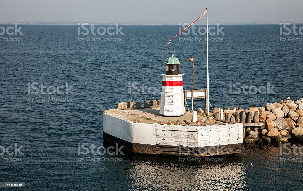 Harbour in Aero, Denmark stock photo