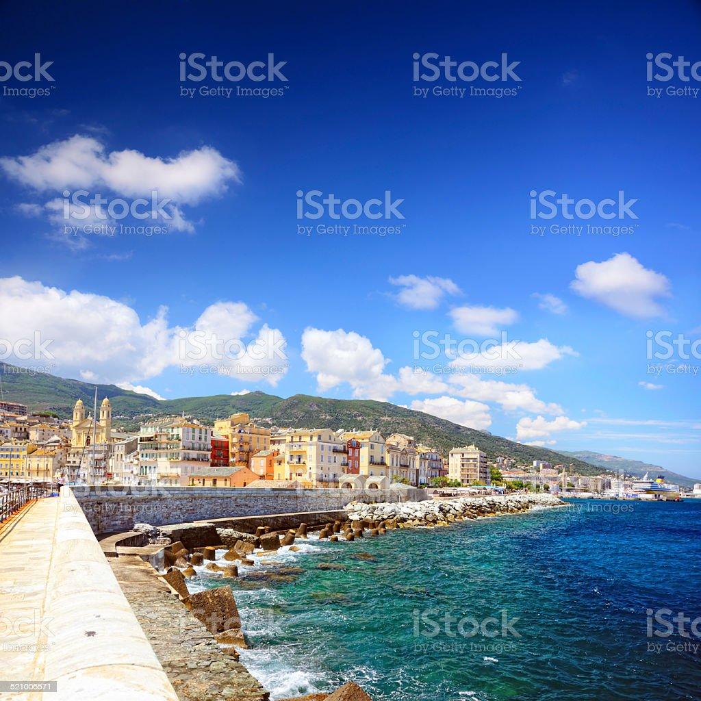 Harbour in Bastia stock photo
