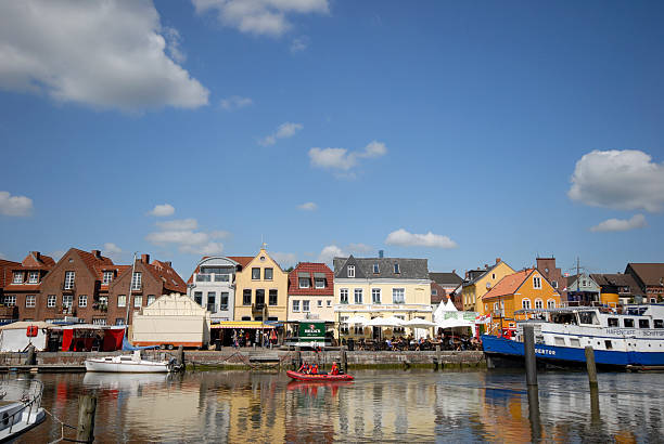 harbour in husum - husum stock-fotos und bilder