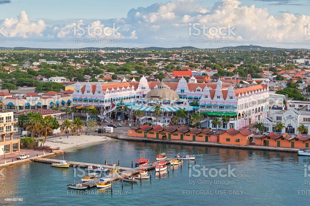Harbour w Oranjestad rano słońce, Aruba. – zdjęcie