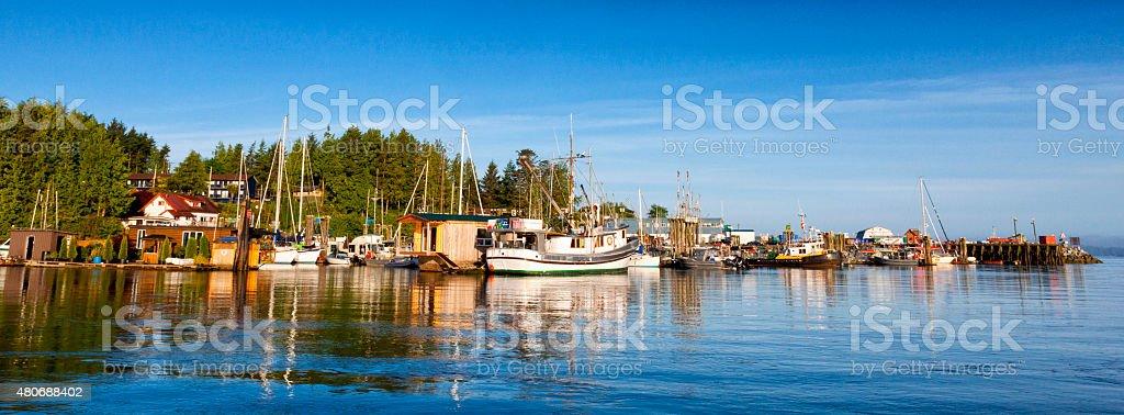 Harbour in Tofino, British Columbia, Canada stock photo
