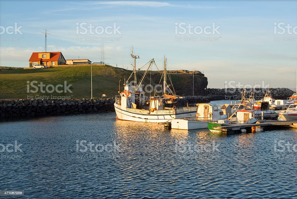 Harbour Keflavik Iceland stock photo
