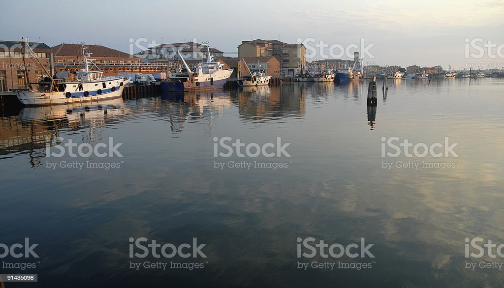 Harbour Morning royalty-free stock photo