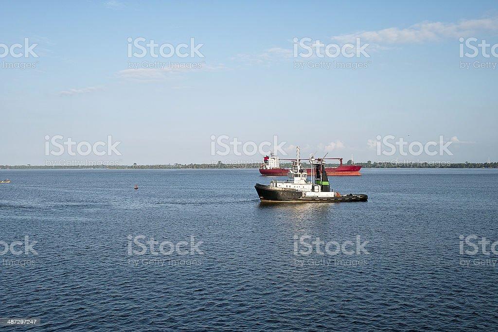 harbour of abidjan stock photo