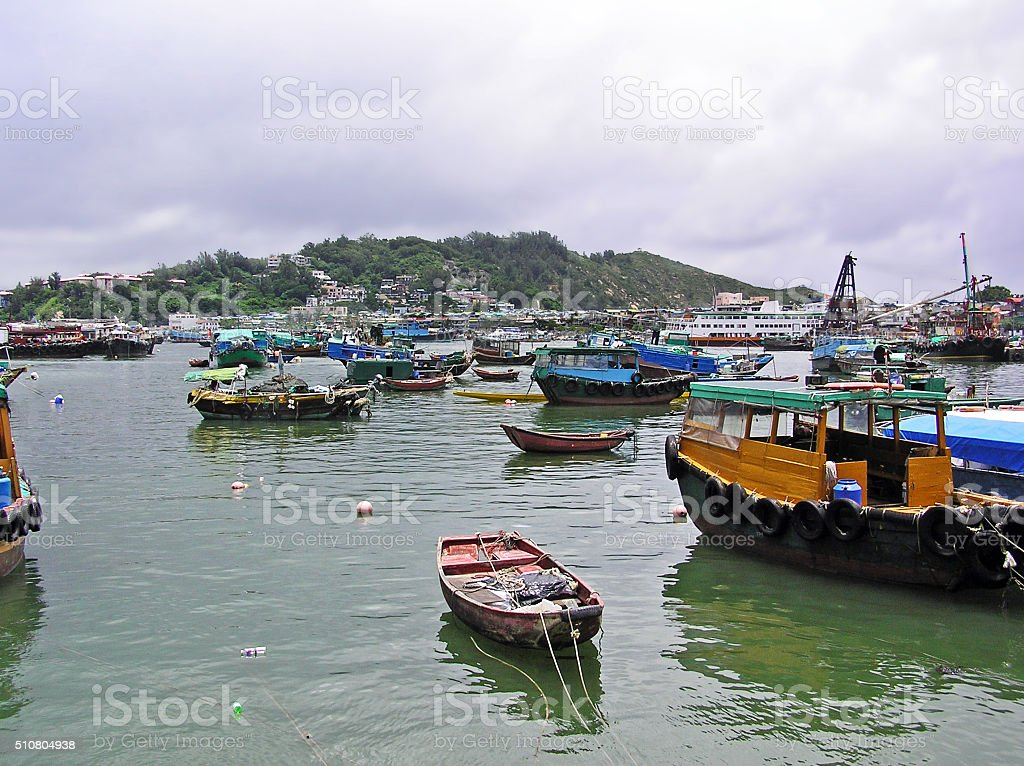 Harbour of Cheung Chau stock photo