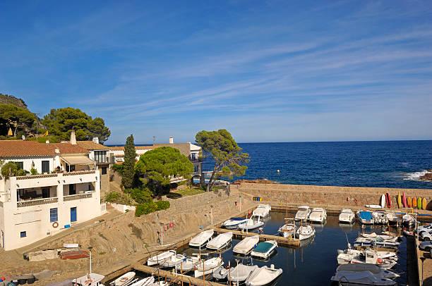 Puerto de Fornells, Begur, Girona, - foto de stock