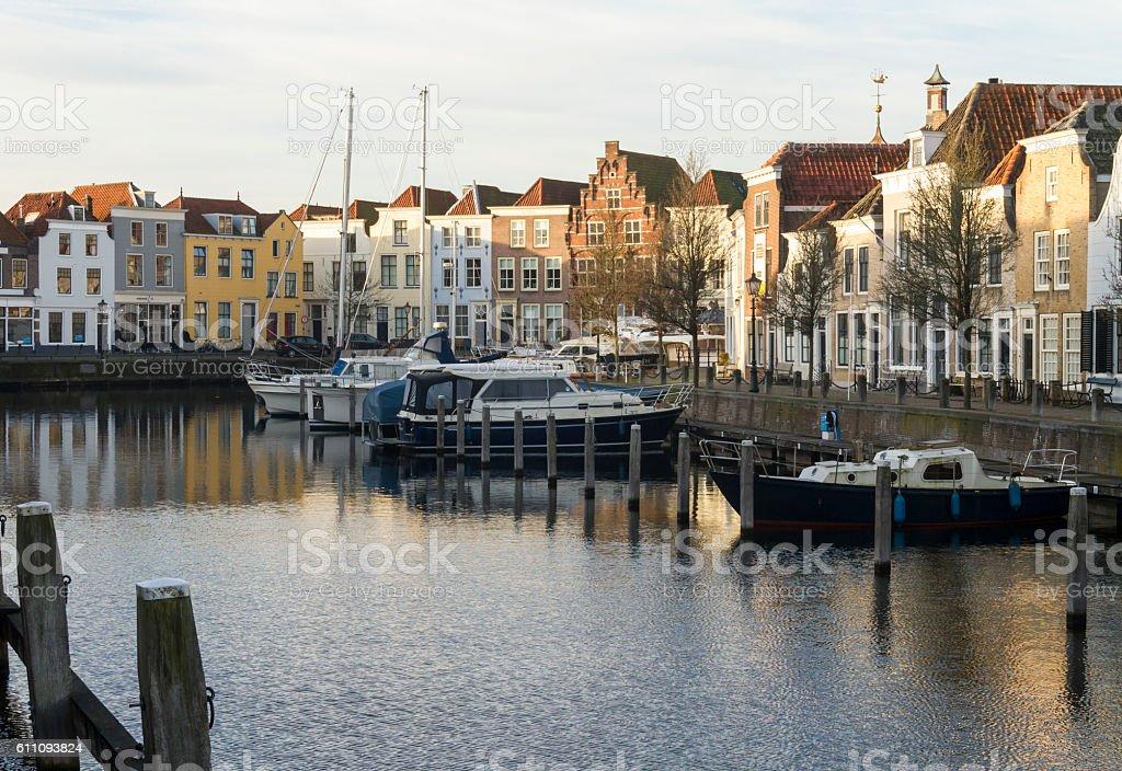 Harbour Of Goes, Zeeland, Netherlands. stock photo