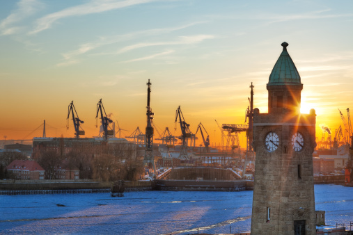 Harbour of Hamburg ( HDR )