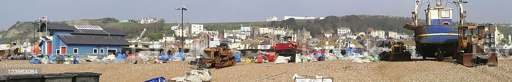 Harbour of Hastings stock photo