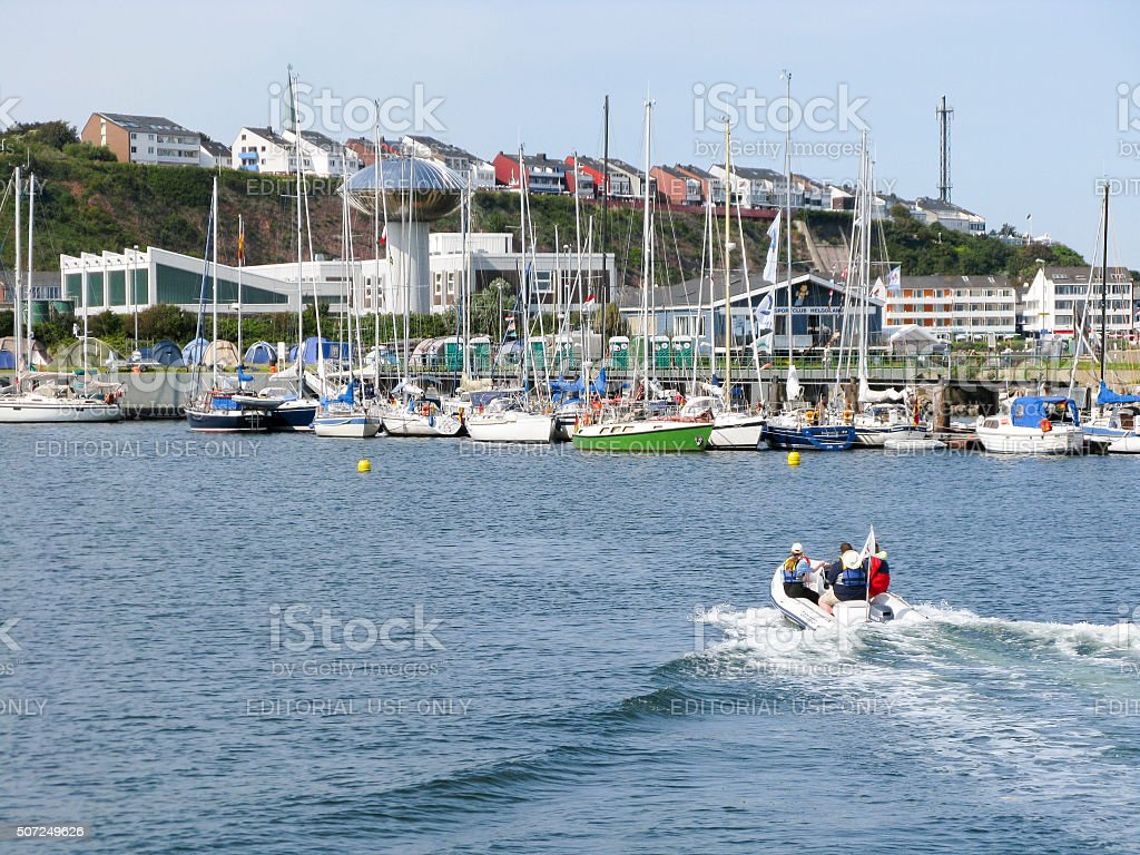 Harbour of Helgoland, Germany stock photo