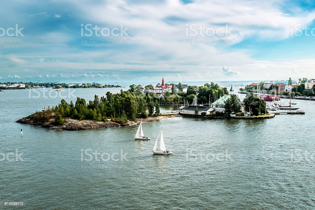 Harbour of Helsinki stock photo
