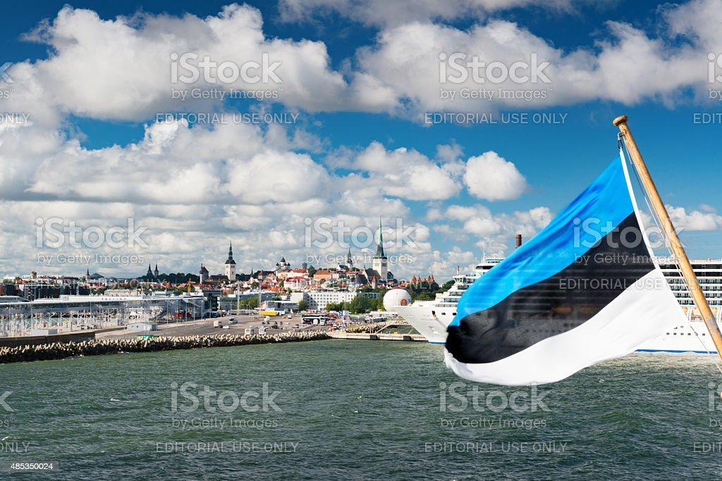 Harbour of Tallinn, Estonia stock photo