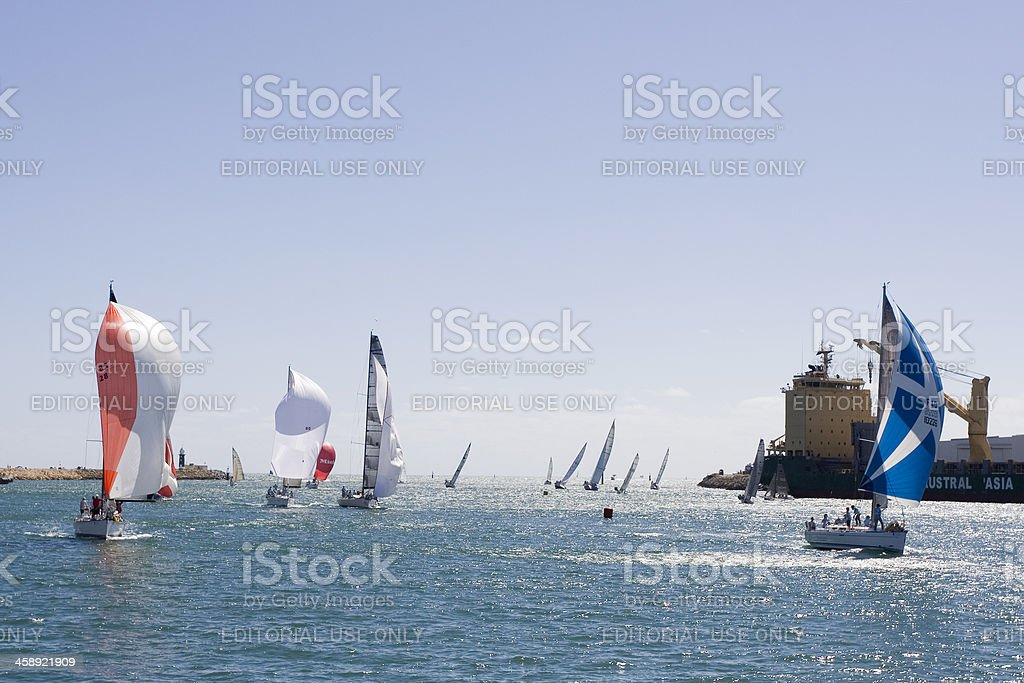 Harbour Race royalty-free stock photo