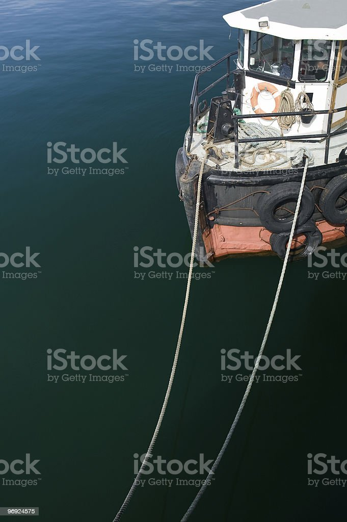 Harbour ship at the pier royalty-free stock photo