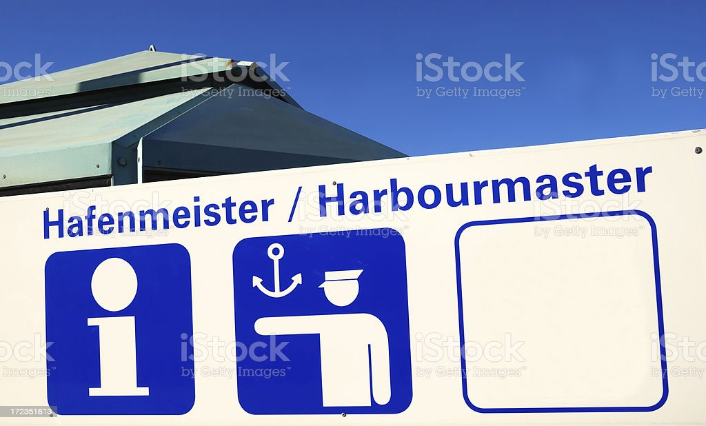 harbourmaster royalty-free stock photo