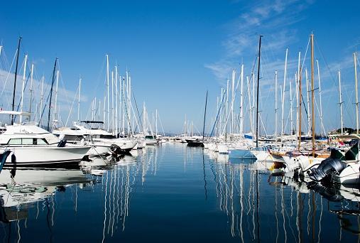 Harbuor with yachts and sailboats Saint Tropez