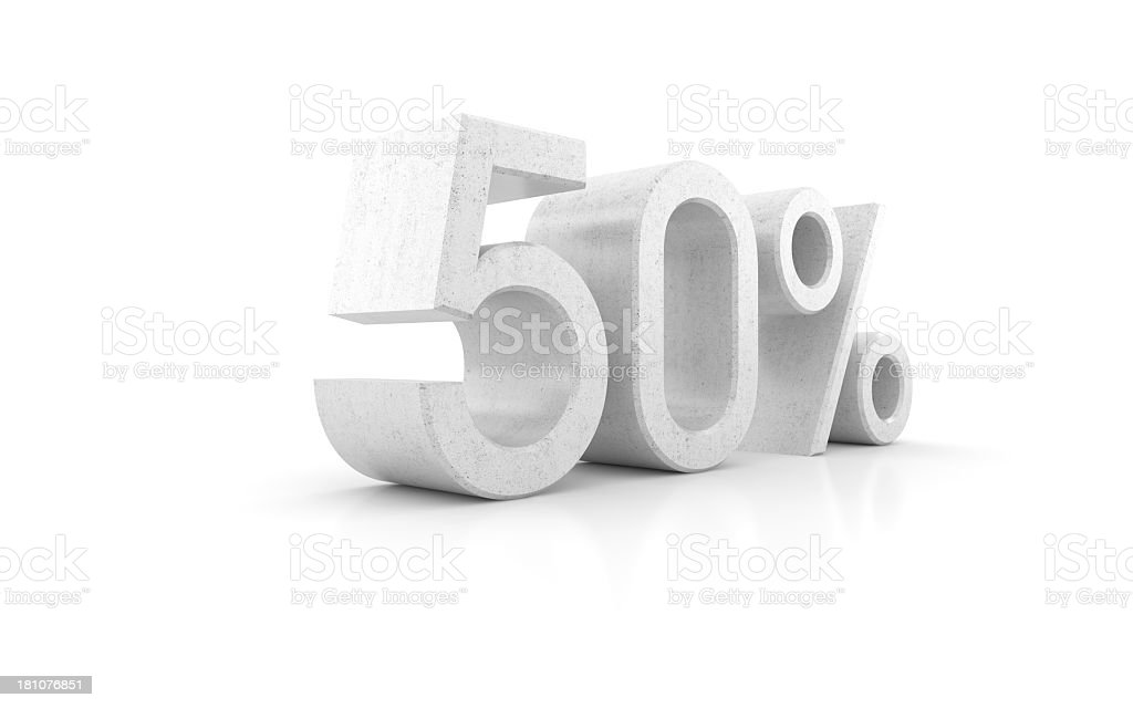 Hard 50% discount royalty-free stock photo