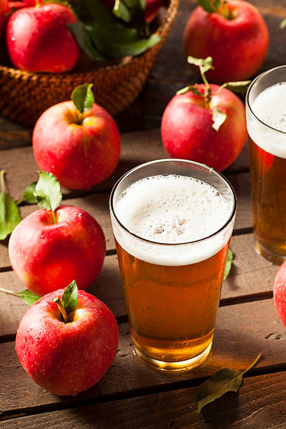 Hard Apple Cider Ale Hard Apple Cider Ale Ready to Drink hot apple cider stock pictures, royalty-free photos & images