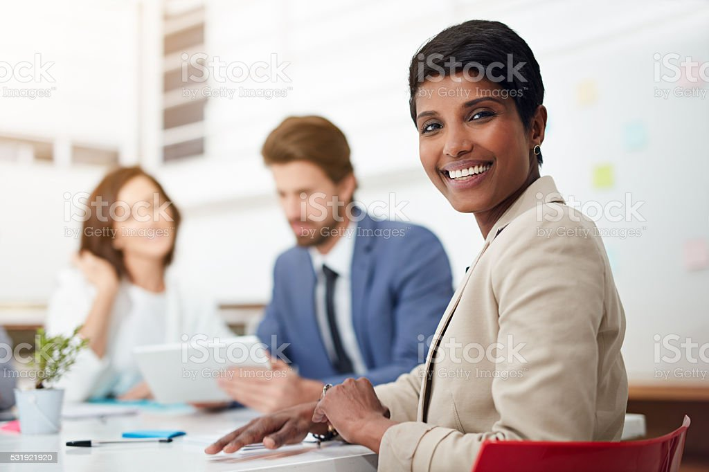 Hard at work as a team stock photo