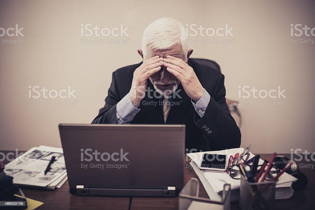 Hard at Work stock photo