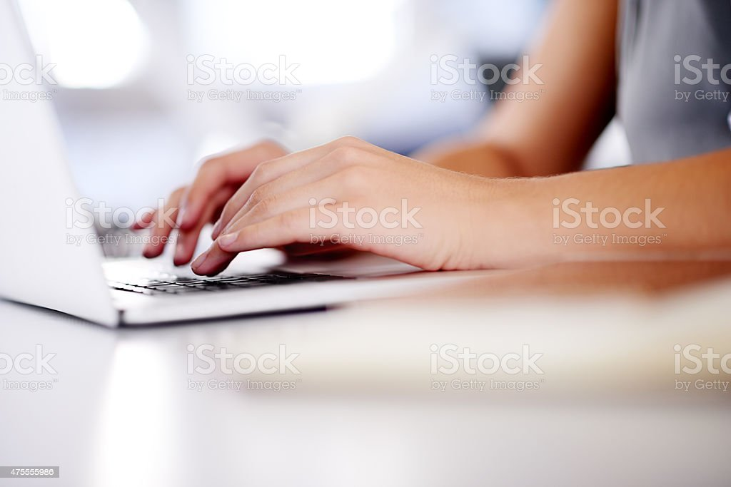 Hard at work stock photo