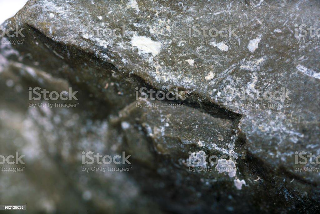 Studio d'échantillons minéraux durs bauxite tourné avec la microscopie photonique - Photo