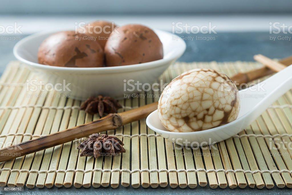 Hard Boiled Chinese Marbled Tea Eggs photo libre de droits