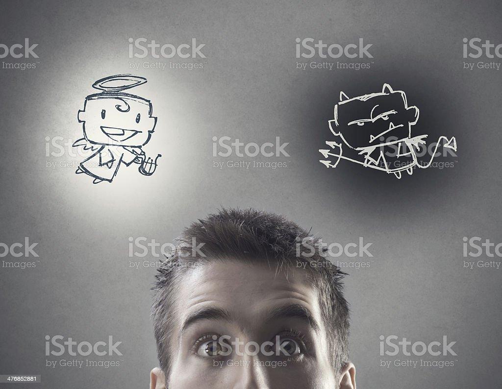 Hard choice stock photo