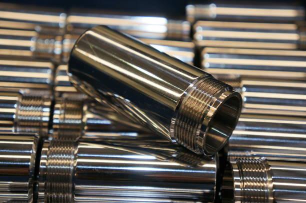 chapeamento de cromo duro do metal do eixo - cromo metal - fotografias e filmes do acervo