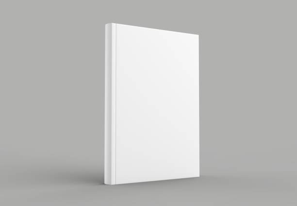 hard cover book mock up isolated on soft gray background. 3d illustrating. - catalogue stock photos and pictures