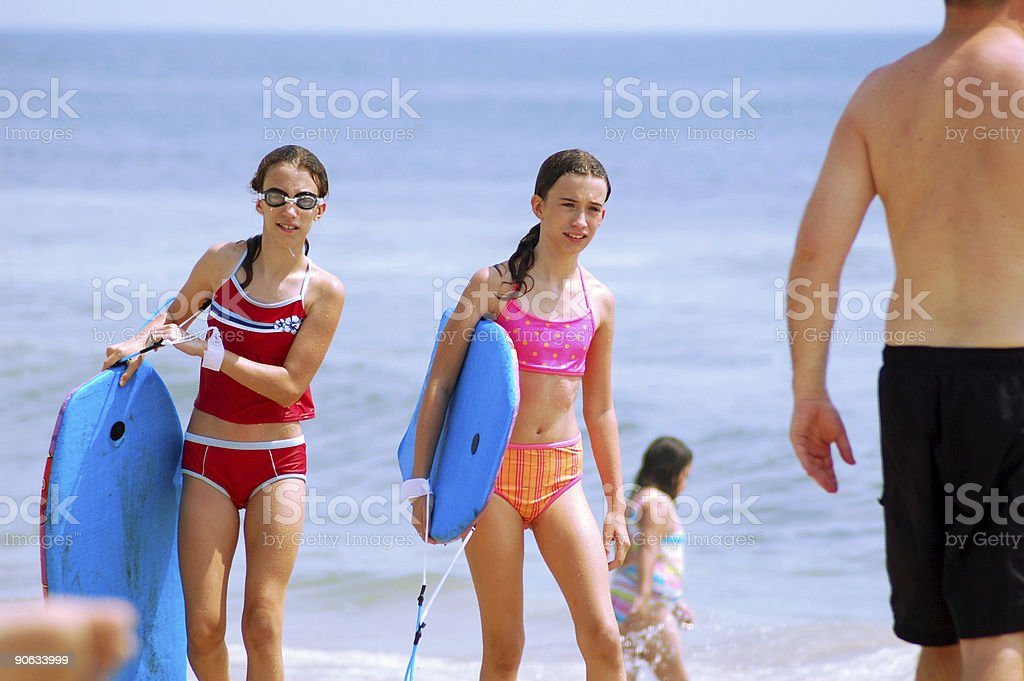 Royalty Free Pre Adolescent Child Bikini Beach Little
