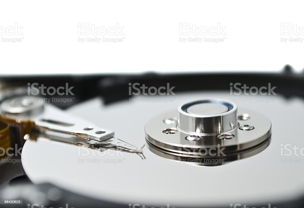 Hard disc drive inside details royalty-free stock photo