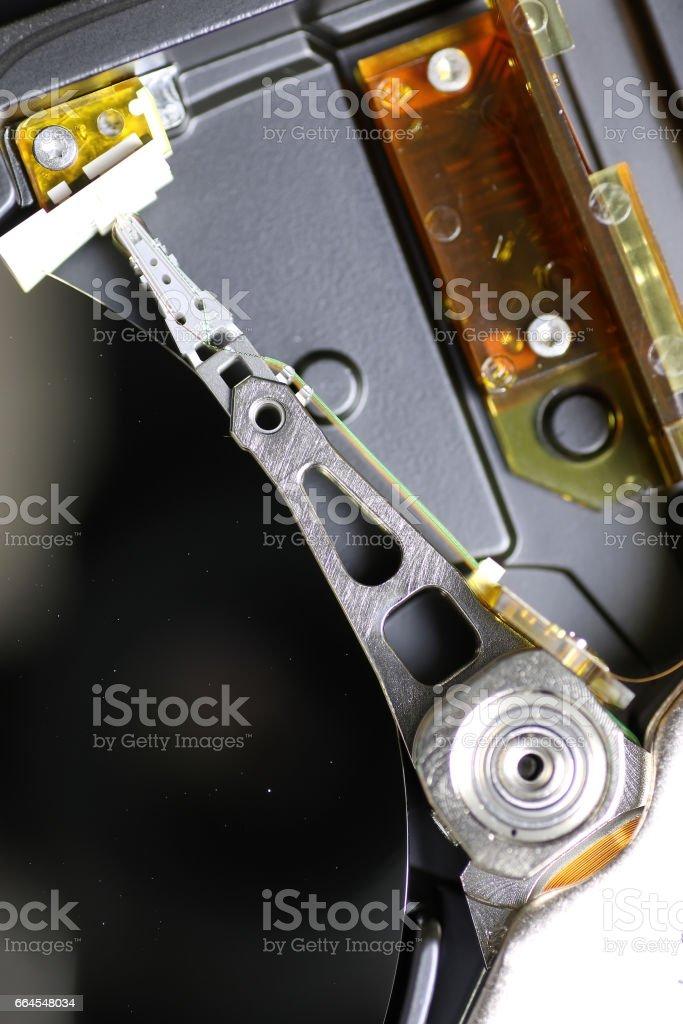 hard disc drive repair macro royalty-free stock photo