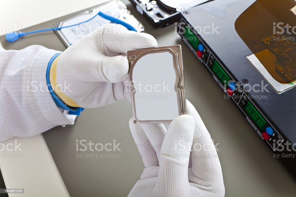 Hard Disk Doctor royalty-free stock photo
