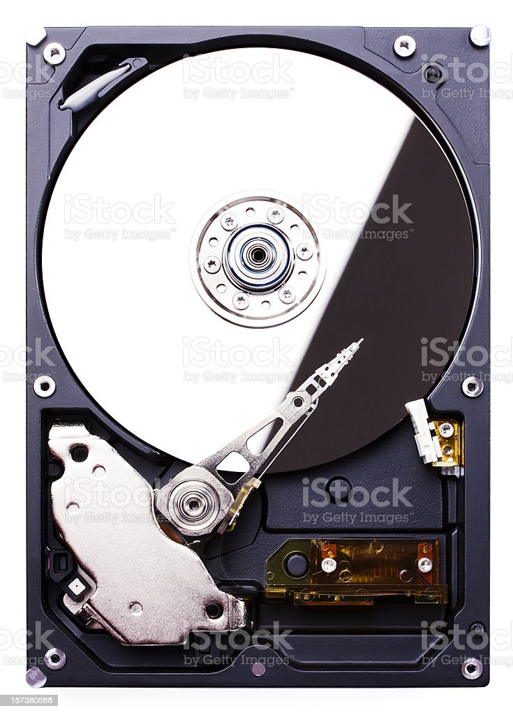 Hard disk drive (clipping path), isolated on white background royalty-free stock photo