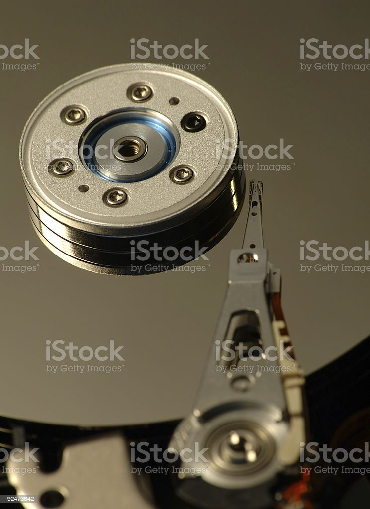 Hard disk head royalty-free stock photo