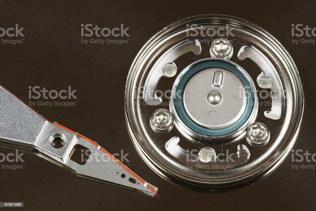Hard disk head royalty-free stock photo