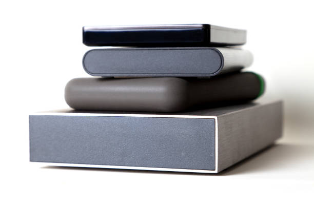 hard disk - external hard disk drive stock photos and pictures