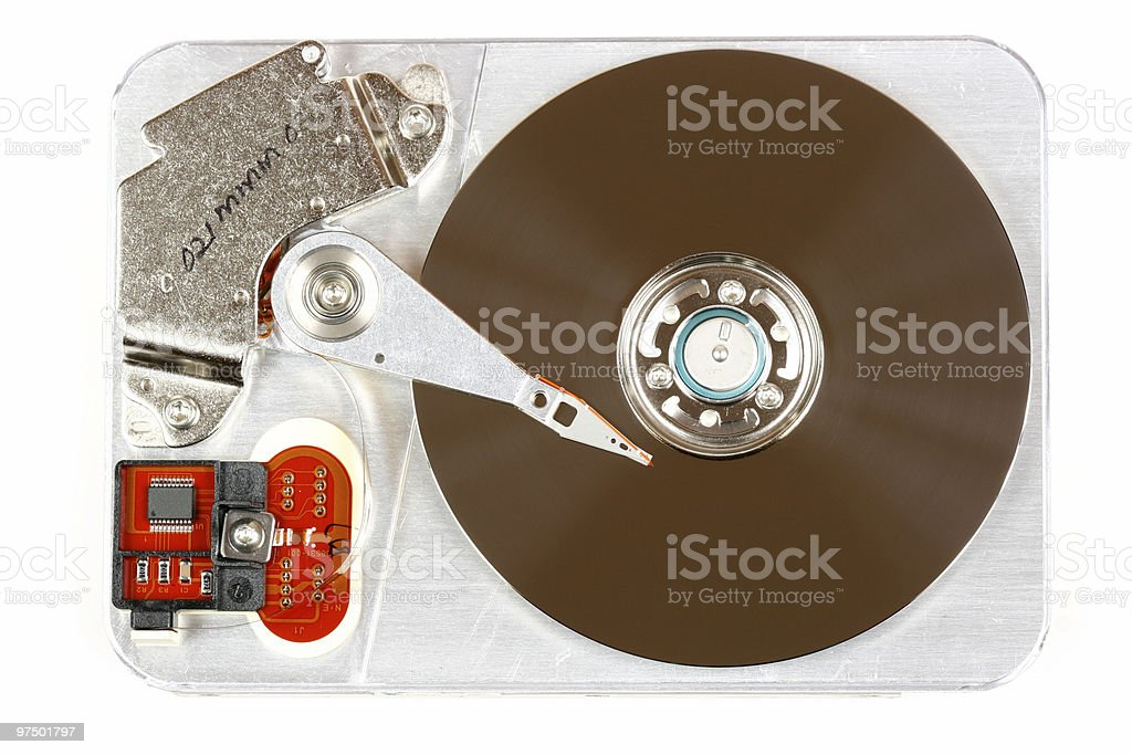 Hard disk royalty-free stock photo
