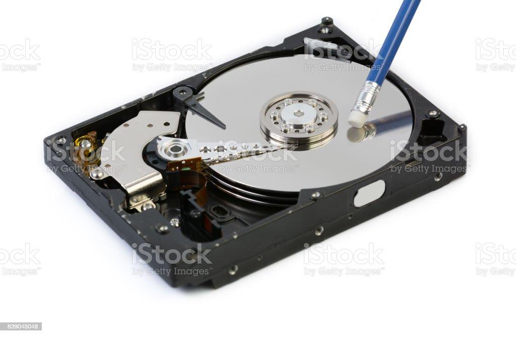 Hard Drive Data Removal stock photo