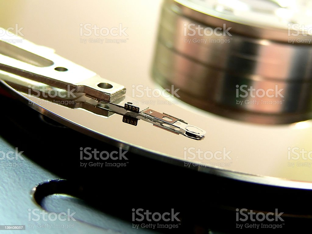 Hard drive details royalty-free stock photo