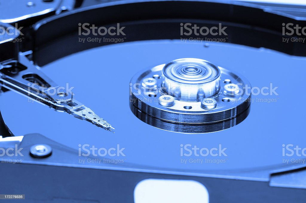 HDD Hard Drive Disk (opened) royalty-free stock photo