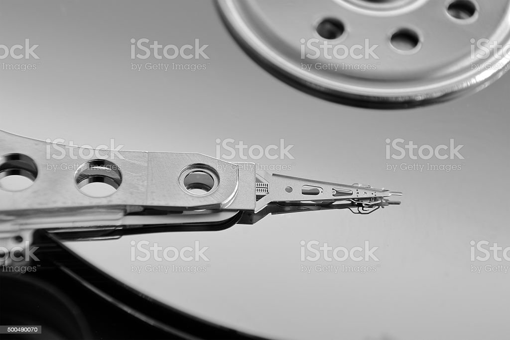 Hard Drive Disk (Open) stock photo