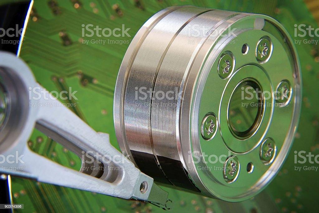 Hard drive green reflection royalty-free stock photo