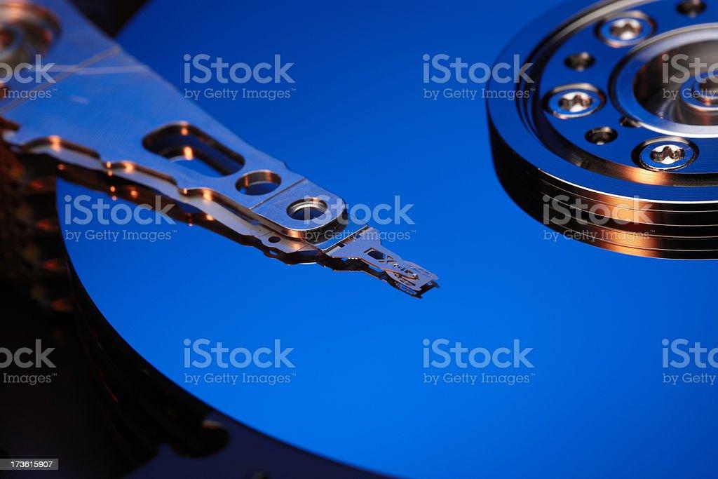 Hard drive HDD blue stock photo