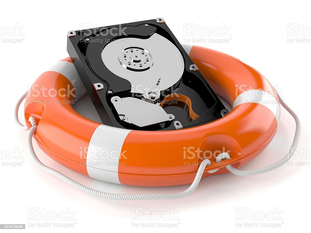 Hard drive help stock photo